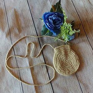 Cute Vintage Crochet Crossbody Bag